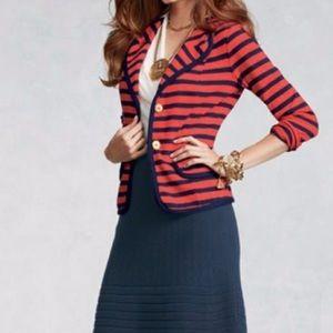 CABI Striped Knit Blazer Size Medium